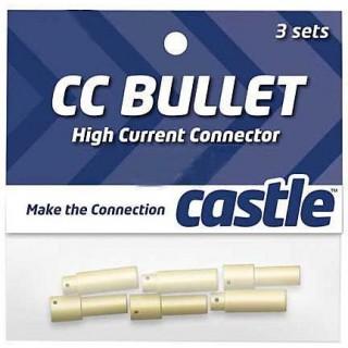 Castle zlacený konektor 5.5mm (3 páry)