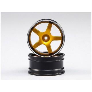 Killerbody Lancer EVO X 1:10 - hliníkové disky kol zlaté