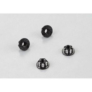 Killerbody hliníkové matice kol černé (4)