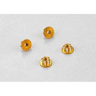 Killerbody hliníkové matice kol zlaté (4)