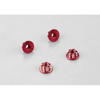 Killerbody hliníkové matice kol červené (4)