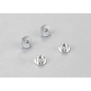 Killerbody hliníkové matice kol stříbrné (4)