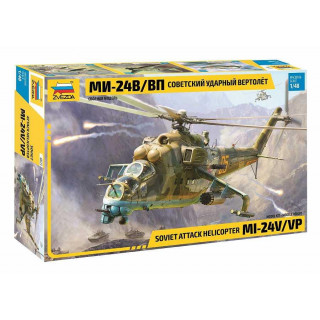 Model Kit vrtulník 4823 - MIL-Mi 24 V/VP (1:48)