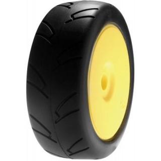 Kolo 1/8 On Road / žlutý disk (2)