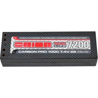 Team Orion LiPol Carbon Pro 7.4V 7200mAh 100C Tubes