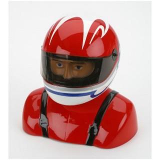 Pilot nabarvený s helmou 35 červeno/bílý
