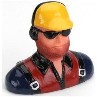 Pilot 1:6 - civilní s kšiltovkou, vousy, sluchátky a sl. brýlemi