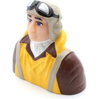Pilot 1:6 - WWII s vestou, helmou a sl. brýlemi