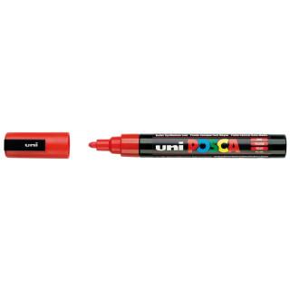 Akrylový popisovač UNI POSCA PC-5M 1,8-2,5mm - červená