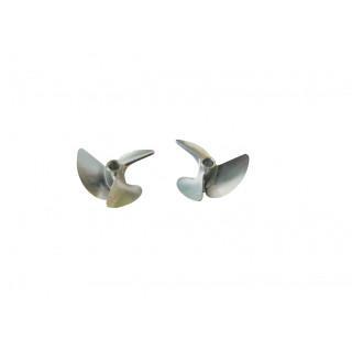 Závodní alu lodní šroub 3 listý, pravý a levý, 40,0mm/DOG DRIVE 3/16, 1 pár