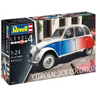 """ModelSet auto 67653 -  Citroen 2 CV """"Coccorico"""" (1:24)"""