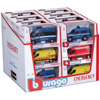 Bburago auta Emergency 1:50 (sada 18ks)