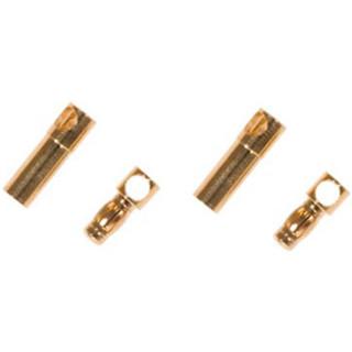 Zlacené konektory 3,5mm se smršť. bužírkou