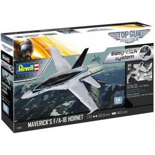"""EasyClick letadlo 04965 - Maverick's F/A-18 Hornet """"Top Gun"""" (1:72)"""