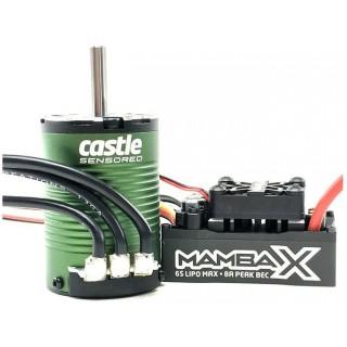 Castle motor 1410 3800ot/V senzored/5mm s reg. Mamba X SCT PRO