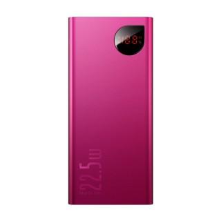 Baseus Adaman Metal Digital Display Quick Charge Power Bank 22.5W 20000mAh Red