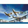 Modely 4 letadel ke slepení. Velikost: 1:72; cm. Balení obsahuje: 222 dílků ke slepení, lepidlo, štětec a barvičky