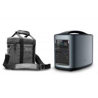 EcoFlow RIVER370 Portable Power Station + Protective Case