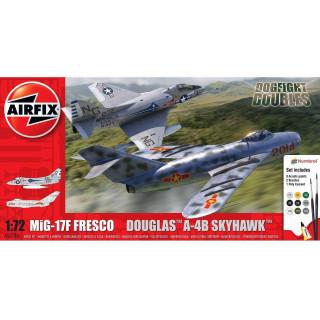 Gift Set letadla A50185 - Mig 17F Fresco Douglas A-4B Skyhawk Dogfight Double (1:72)