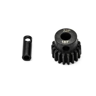 Ocelový motorový pastorek 18 zubů, modul 32DP s 5mm vrtáním a 3,17mm adaptérem