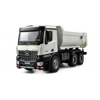 Mercedes truck tipper PRO kovový, 1:10, RTR, 2,4 GHz, biely