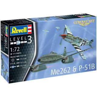 Plastic Modelkit letadla 03711 - Me262 & P-51B (1:72)