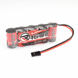RX-pack Straight 2/3A NiMH - JR - 6.0V - 1600mAh