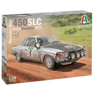 Model Kit auto 3632 - Mercedes-Benz 450SLC Rallye Bandama 1979 (1:24)
