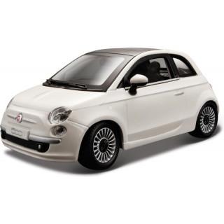 Bburago Fiat 500 2007 1:24 bílá