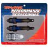 Traxxas tlumič GTR long hliník/PTFE modrý, pístnice TiN (2)