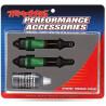 Traxxas tlumič GTR long hliník/PTFE zelený, pístnice TiN (2)