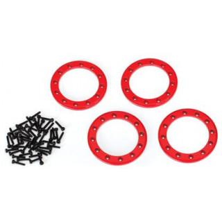 """Traxxas hliníkový Beadlock kroužek 1.9"""" červený (4)"""