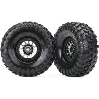 """Traxxas kolo 1.9"""", disk Method 105 černý chrom, pneu Canyon Trail (pár)"""