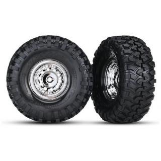"""Traxxas kolo 1.9"""", disk chromovaný, pneu Canyon Trail (pár)"""