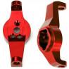 Traxxas závěs těhlice hliníkový červený (pár): TRX-4