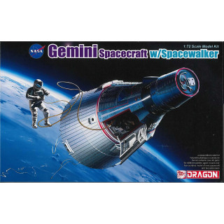 Model Kit kosmická loď 11013 - Gemini Spacecraft w/Spacewalker (1:72)