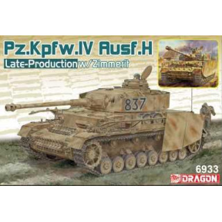 Model Kit tank 6933 - Pz.Kpfw.IV Ausf.H Late Production w/Zimmerit (2 in 1) (1:35)