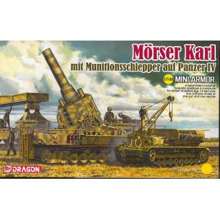 Model Kit military 14135 - Morser Karl mit Munitionsschlepper auf Panzer IV (1:144)