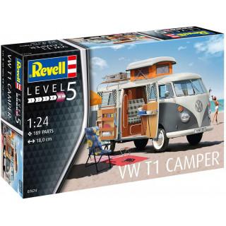 Plastic ModelKit auto 07674 - VW T1 Camper (1:24)