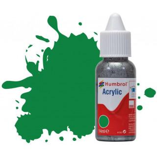 Humbrol barva akryl DB0002 - No 2 Emerald Green - Gloss - 14ml