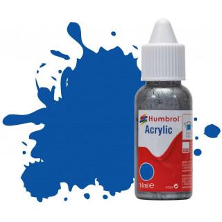 Humbrol barva akryl DB0014 - No 14 French Blue - Gloss - 14ml