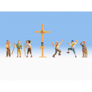 Horolezci a kříž NO15874