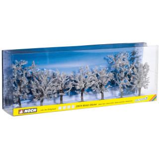 Zimní stromky 7 ks, 8 - 10 cm NO25075