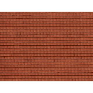 3D kartonová deska, červené dlaždice 25 x 12,5 cm / ks NO56670