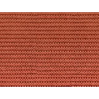 3D kartonová deska, červený bobří ocas 25 x 12,5 cm / ks NO56690