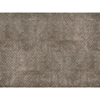 3D kartonová deska, šedý bobří ocas 25 x 12,5 cm / ks NO56691