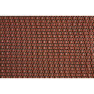 Střešní krytina, červená, 28 x 10 cm NO57328
