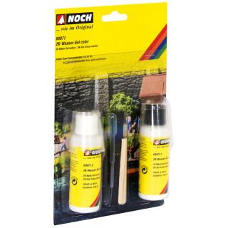 2K Vodní gel (dvousložkový 2 x 50 ml) + 3 x 2 ml barvy NO60871