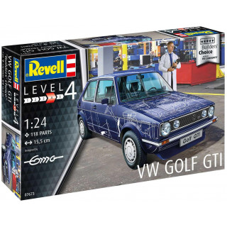 "Plastic ModelKit auto 07673 - VW Golf Gti ""Builders Choice"" (1:24)"