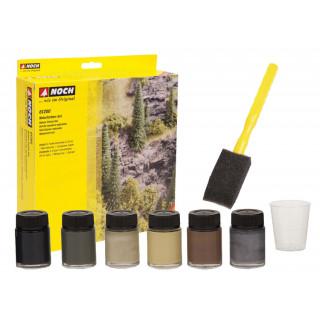 Přírodní barvy - set, 6 x 20 ml barevných koncentrátů NO61200